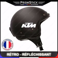 Kit 4 Stickers Retro Reflechissant KTM ref3; Casque Moto autocollant