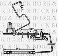 BBH7552 BORG & BECK BRAKE HOSE REAR LH fits Chrysler Grand Voyager 00-05