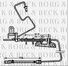 BBH7552 BORG & BECK BRAKE HOSE REAR LH fits Chrysler Grand Voyager 00-05