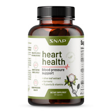 Heart Health Blood Pressure Support Supplement, Nitric Oxide, Olive Leaf Extract