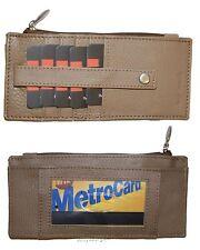 Wallet. Card organizer Leather Credit card ID wallet Zip change purse organizer