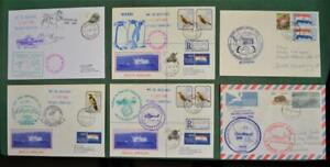 SOUTH AFRICA STAMP COVERS 6 ANTARCTIC EXPEDITION MOST POSTED AT SEA     (G1)