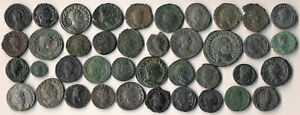 40 ANCIENT ROMAN COINS (BETTER DETAILS, ATTRACTIVE > MOSTLY COPPER) NO RESERVE