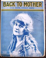 1917 Vintage Sheet Music- Back to Mother & Home Sweet Home  - Jack Frost