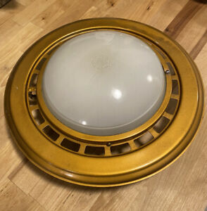 vintage MCM Anodized NuTone Vent-A-Lite cover for bathroom fan and light Rare