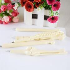 5pcs/Set Black Bone Shape Ballpoint Pens Creative Ink Pen Writing Supplies Gift