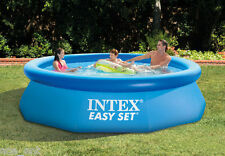 NEW INTEX 10ft X 30in EASY SET POOL ABOVE GROUND SWIMMING POOL FOR FAMILY W/PUMP