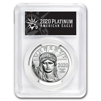 2020 1 oz Platinum American Eagle MS-70 PCGS (FD, Black Label) - SKU#199407