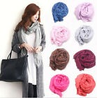 2015 Women's Girl Pure Candy Colour Crinkle Long Soft Scarf Wrap Shawl Stole