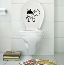 Funny Creative Toilet Decor Bathroom Ensuit Vinyl Wall Decal Sign Lovely Sticker