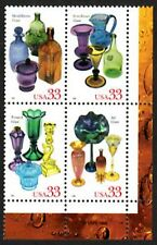 USA Sc. 3328a 33c American Glass 1999 MNH block of 4