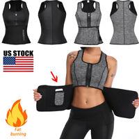Women Waist Trainer Vest Tank Workout Neoprene Sauna Sweat Belt Body Shaper Tops