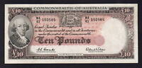 Australia R-63. (1960) 10 Pounds - Coombs/Wilson.. Reserve Bank..  EF