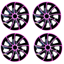 14 Wheel Trims Set of 4 Quad Bicolor Pink covers