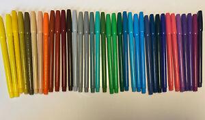 Vintage PENTEL 36 Colors Pens Fine Point Marker Set Original S360-36 Japan Rare