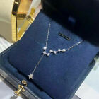 Star 925 Silver Necklaces Pendants Elegant Cubic Zirconia Women Wedding Jewelry