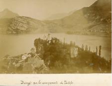 France, Haute Savoie, Château Duingt sur les escarpement du Taillefer, ca.1895,
