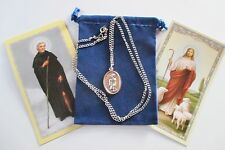 St. Peregrine Saint Medal with 24 Inch Necklace, 2nd Style