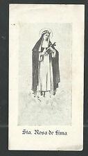 Estampa antigua Santa Rosa de Lima andachtsbild santino holy card santini