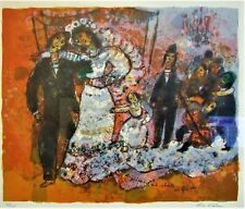 Theo Tobiasse (1927-2012) The Wedding Ltd Edt lithograph print with COA framed