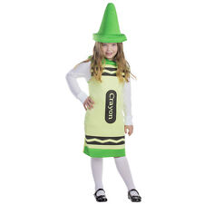 Kids Girls Green Crayon Pretend Play Costume By Dress up America