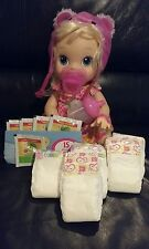 BABY ALIVE REFILL PACK WITH SIPPY CUP & PACI DIAPERS , FOOD . NO DOLL INCLUDED