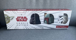 Williams Sonoma Star Wars Cookie Cutters Set Of 4 Yoda Vader Boba Stormtrooper