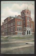 POSTCARD YOUNGSTOWN OHIO IMMACULATE CONCEPTION SCHOOL CAMPUS BUILDING 1907
