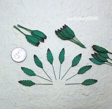 50 Mini Leaves Green Leaf Scrapbook Craft Mulberry Paper Artificial Card Wedding
