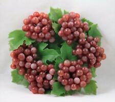 Candle Ring Grapes Rubber Grapes Plastic Leaves Vintage