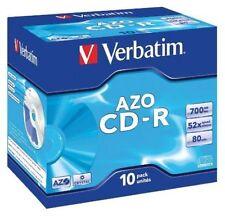 Verbatim 10 X DataLifePlus Cd-r 700 MB 52x Crystal AZO