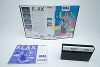 Sega Master System *Klax* OVP mit Anleitung
