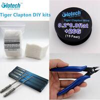 Glotech Tiger Clapton wire +Pliers+ Coil Jig+ cotton 10pcs DIY kits for RBA RDA
