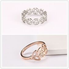 Retro Pentagram Trinity Knot Wicca Silver Finger Ring Amulet Hollow Gift Jewelry