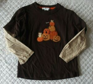 Janie and Jack 4 4T Boys Halloween Shirt EUC boo pumpkins fall