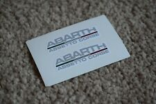 Fiat Abarth Assetto Corse Car Motorbike Racing Tuning Decal Stickers 50mm