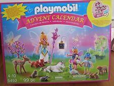 NEW PLAYMOBIL 5492 UNICORN FAIRYLAND CHRISTMAS ADVENT CALENDAR w/ JEWELRY BOX