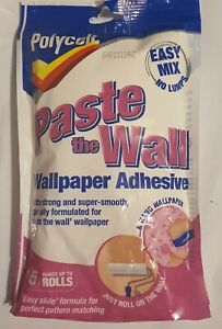 Polycell Paste The Wall Wallpaper Powder Adhesive Extra Strong & Smooth-5 Rolls