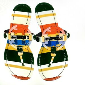 TORY BURCH Patent Leather Printed Sandals Size: 10 NEW SOLD OUT