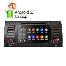 Autoradio 7 Zoll DVD Navi für BMW E53 X5 Android 5.1 Quad-Core Mirror OBD2 DAB+