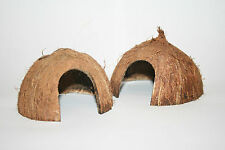 Pollywog noix de coco hutte ~ ~ trou cintrées den masquer grotte coco moitié ~ CREVETTE GRENOUILLE Newt