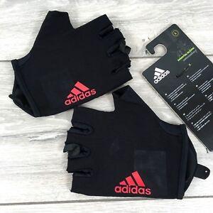 adidas Essen Mens Training Gloves Gym Workout All Sizes Black Red D133