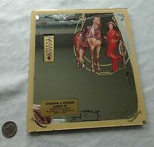 """Vintage Advertising Thermometer WESTERN WOMAN HORSE Stranahan & Severs Lumber 9"""""""
