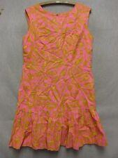 W4567 Women's Rhapsody by Glazier Vintage 1960s Pink Psychedelic Mini Dress