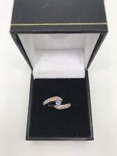 9ct Yellow Gold .02 Carat Diamond and Tanzanite Ring Size N