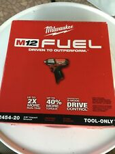 New Milwaukee 2454-20 M12 FUEL 12-Volt Brushless 3/8 in Impact Wrench Bare Tool