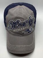 Liberty University Flames Ladies NCAA Baseball Cap Hat Gray Blue Bling Strapback