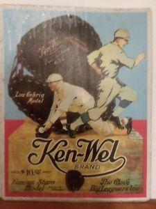 Ken Wel Brand Lou Gherig Model Metal Sign Reproduction