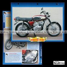 #024.06 Fiche Moto BRIDGESTONE GTR 350 1966-1968 Motorcycle Card