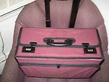 Carry on Suitcase luggage FITS LEGAL FILES Burgundy Waterproof Canvas unisex